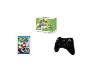 Gaming SuperCombo: Nintendo Wii U Skylanders Swap Force Set White + Mario Kart 8 Wii U + Nintendo Wii U Pro Controller Black