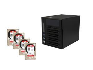 Super Storage Combos CKO-9151K: Thecus W4000 Cloud Ready Windows NAS, (4x) Western Digital Red Pro 3 TB NAS Hard Drive