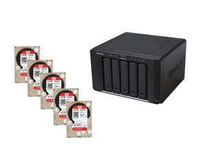 Super Storage Combos CKO-K151K: Synology DS1515+ Network Storage, (5x) Western Digital Red Pro 3 TB NAS Hard Drive