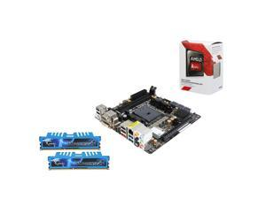 Upgrade Kit UKO-3153K: AMD A8-7600 Kaveri Quad-Core 3.1GHz, ASRock FM2A88X-ITX mITX, G.Skill Ripjaws X Series 8GB DDR3 2400