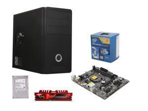 Intel Pentium G3220 Haswell Dual-Core 3.0GHz CPU, ASRock B85M-HDS MOBO, Toshiba 500GB HDD,  G.SKILL Ripjaws X 4GB DDR3 1600 Memory, Rosewill R363-M-BK Case w/ 400W Power Supply
