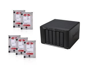 Super Storage Combos CKO-K150K: Synology DS1515+ Network Storage, (5x) Western Digital Red 3TB IntelliPower NAS Hard Drive