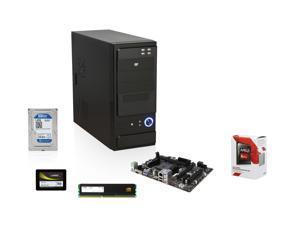 AMD A8-7600 Kaveri 3.1GHz Quad-Core APU w/ Radeon R7 Series, MSI A68HM-E33 FM2+ MOBO, Mushkin Enhanced ECO 120GB SSD, WD Blue 1TB HDD, Mushkin Enhanced Stealth 8GB MEM, LOGISYS Computer CS370BK Case w/ 480W PSU