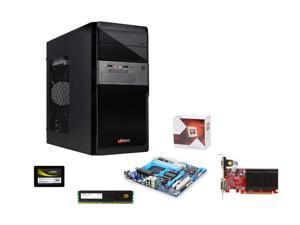 AMD FX-4350 4.2GHz Quad Core, GA-78LMT-USB3, Mushkin Stealth 8GB RAM, Mushkin ECO2 120GB SSD, PowerColor HD 5450 1GB, Logisys ...