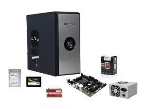 AMD A10-5800K 3.8GHz Trinity Quad-Core APU w/ Radeon HD 7660D, GIGABYTE A68H FM2+ MOBO, G.SKILL Ripjaws X 8GB MEM, Mushkin Enhanced 120GB SSD, Seagate Barracuda 1TB HDD, LOGISYS 480W PSU, RAIDMAX Anura Case