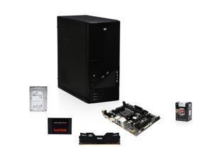 AMD A10-5800K 3.8GHz Trinity Quad-Core APU w/ Radeon HD 7660D, GIGABYTE A68H FM2+ MOBO, Team Dark 8GB MEM,  SanDisk 128GB SSD, Seagate Barracuda 1TB HDD, LOGISYS CS206BK Case w/ 480W PSU