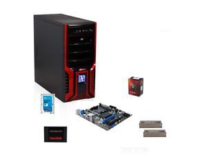 AMD FX-6300 Vishera 6-core 3.5GHz Six-Core CPU, MSI 760G MOBO, Klevv Neo 8GB MEM, SanDisk 128GB SSD, Seagate Barracuda 1TB HDD, LOGISYS Computer CS368RB Red Case w/ 480W PSU