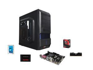 AMD A10 7700K Kaveri 3.4GHz Quad-Core APU w/ Radeon R7 Series , GIGABYTE A68 MOBO,  Team Dark 8GB MEM,  SanDisk 128GB SSD, Seagate Barracuda 1TB HDD, LOGISYS CS370BK Case w/ 480W PSU