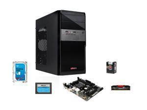 AMD A10-5800K Trinity 3.8GHz Quad-Core APU w/Radeon HD 7660D , GIGABYTE A68 MOBO, PNY Anarchy 8GB MEM, PNY 120GB SSD, Seagate Barracuda 1TB HDD, LOGISYS CS136BK Case w/ 480W PSU