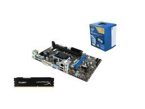 Upgrade Kit UKO-3151K: Intel Core i3-4170 Haswell 3.7GHz Dual-Core, MSI H81M-P33 mATX MOBO, HyperX Fury Black Series 8GB ...