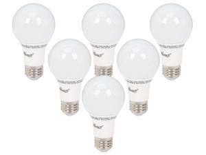 6 X Rosewill RL-O93001 - A19 Non-Dimmable LED Light Bulb - E26 Base, 9 Watts (Replaces 60W Bulb), 800 Lumen, UL / CE / RoHS, 2700K, Warm White, Omni-Directional