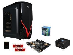 Intel Core i5-6600 Skylake Quad-Core 3.3GHz CPU, ASUS Z170M-PLUS ATX MOBO, G.SKILL Ripjaws 4 Series 8GB DDR4 2800 MEM, RAIDMAX ...