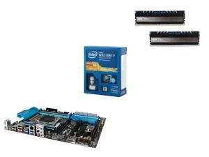 Intel Core i7-5820K Haswell-E 6-Core 3.3GHz CPU, ASRock X99 Extreme4 ATX MOBO, Avexir Core Series 16GB DDR4 2400 MEM