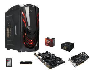AMD FX-8350 Black Edition Vishera 8-Core 4.0GHz, GIGABYTE GA-990FXA-UD3 R5 MOBO, HyperX FURY 8GB DDR3 1600 MEM, RAIDMAX Viper ...