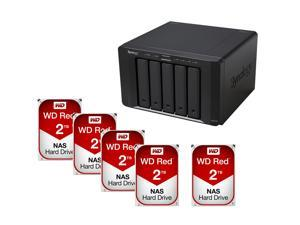 Synology DS1515+ Diskless System Network Storage + (5x) WD Red 2TB NAS Hard Disk Drive