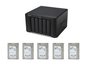 Synology DS1515+ Diskless System Network Storage + (5x) Seagate 2TB NAS Hard Disk Drive