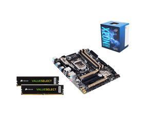 Intel Xeon E3-1220 SkyLake 3.0Ghz Server CPU, GIGABYTE GA-X150M-PRO 1151 SATA 6Gb/s  Micro ATX MB, 2 X CORSAIR ValueSelect ...