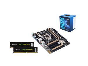 Intel Xeon E3-1240 3.5Ghz Server CPU, GIGABYTE GA-X150M-PRO 1151 SATA 6Gb/s  Micro ATX MB, 2 X CORSAIR ValueSelect 8GB DDR4 ...