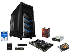 AMD FX-6300 Vishera 6-Core 3.5GHz, Gigabyte GA-970A-DS3P ATX, HyperX FURY 8GB DDR3 1600, Zotac 750 Ti 2GB, RAIDMAX Vortex ...