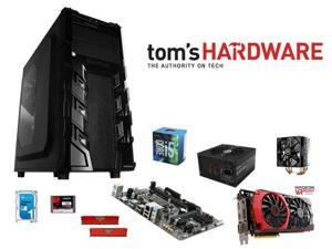 Intel i5-6600 Quad-Core 3.3GHz CPU, GIGABYTE GA-H110M-A MB, RAIDMAX Vortex V3 Mid Tower Case, Cooler Master 212 120mm Fan, ...