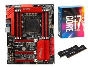 ASRock Fatal1ty Gaming Fatal1ty X99X Killer ATX MOBO, Intel i7-6850K, HyperX Savage 16GB DDR4 3000