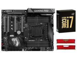 MSI X99A GAMING PRO CARBON ATX MOBO, Intel i7-6950X, CORSAIR Vengeance LPX 32GB DDR4 3200
