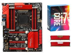 ASRock Fatal1ty Gaming Fatal1ty X99X Killer ATX MOBO, Intel i7-6850K, CORSAIR Vengeance LPX 32GB DDR4 3200