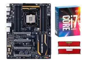 GIGABYTE GA-X99P-SLI X99 ATX MOBO, Intel i7-6850K, CORSAIR Vengeance LPX 32GB DDR4 3200