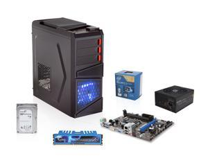 Intel Core i5-4440 3.1GHz Quad-Core CPU, MSI H81M MOBO, G.SKILL 8GB MEM, Seagate 1TB HDD, EVGA 750W 80 PLUS PSU, Rosewill ...