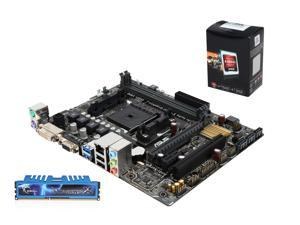 Upgrade Kit Combo: AMD A6-5400K 3.6GHz Dual Core, Asus A68HM-K FM2+ mATX Motherboard, G.Skill 8GB 1600 RAM