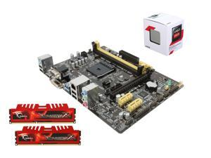 Core Components Upgrade: AMD Athlon 5350 Kabini 2.05GHz Quad-Core CPU, ASUS AM1 mATX Motherboard, G.SKILL Ripjaws X Series ...