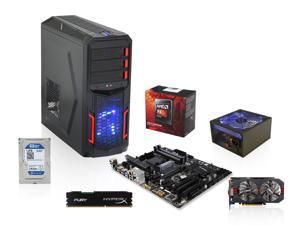 AMD FX-6300 Vishera 6-Core 3.5GHz CPU, Gigabyte GA-970A-DS3P MOBO, HyperX Fury 8GB DDR3 1600, Raidmax Hybrid 530W PSU, Seagate ...