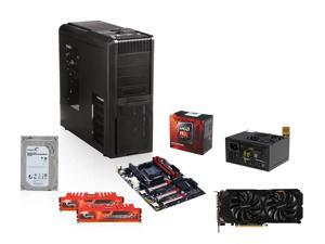 AMD FX-8350 Black Edition Vishera 8-Core, GIGABYTE GA-990FX-Gaming ATX, G.SKILL Ripjaws X Series 8GB DDR3 1866, Seagate Hybrid ...