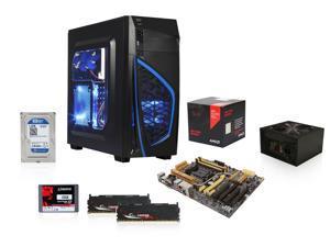 AMD A10-7870K w/ AMD Cooler Quad-Core, DIYPC Zondda-B Black ATX Gaming Case, ASUS A88X-Pro FM2+ MB, Rosewill Stallion 450W ...