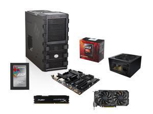 AMD FX-8350 Black Edition Vishera 8-Core 4.0GHz, GIGABYTE GA-990FXA-UD3 R5 MOBO, HyperX FURY 8GB DDR3 1600 MEM, Cool Maser ...