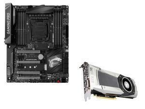 MSI Bundle: MSI GeForce GTX 1080 8GB, DirectX 12 Graphics Card, MSI X99A GAMING PRO CARBON LGA 2011-v3 USB 3.1 ATX Motherboard