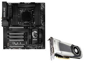 MSI Bundle: MSI GeForce GTX 1080 8GB, DirectX 12 Graphics Card, MSI GodLike Gaming Carbon LGA 2011-v3 Intel X99 USB 3.1 Extended ...