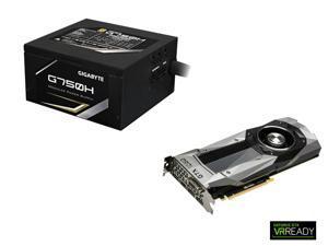 GIGABYTE GeForce GTX 1080 GIGABYTE 8GB Graphics Card, GP-G750H 750W 80 PLUS GOLD Power Supply