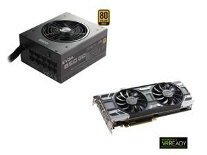 EVGA GTX 1080 8GB / Core Clock 1708MHz / Boost Clock 1847MHz SC GAMING ACX 3.0 Graphics Card, EVGA 850W 80 PLUS GOLD PSU