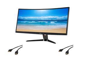 """Shell Shocker Monitor Bundle Pack: BenQ XR3501 Black 35"""" 144Hz 4ms (GTG), 21:9 Ultra Wide Curve 2560 x 1080 Resolution LED ..."""