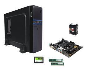 AMD A6-5400K Dual-Core 3.6 GHz CPU, ASUS A68HM-K FM2+ A68H mATX, LOGISYS Computer CS6802BK mATX Case w/ 350W PSU, Crucial ...