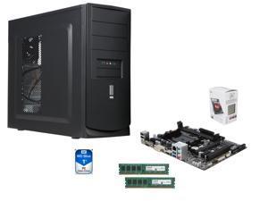 AMD A4-6300 Dual-Core 3.7 GHz CPU, GIGABYTE GA-F2A78M-HD2 mATX MB, Rosewill I5-397-BK ATX Case w/ 450W PSU, Crucial 8GB (2 ...