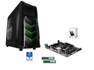 AMD A4-7300 Richland Dual-Core 4.0 GHz CPU, GIGABYTE GA-F2A78M-HD2 mATX MB, RAIDMAX Vortex V4 ATX Case w/ 450W PSU Crucial ...