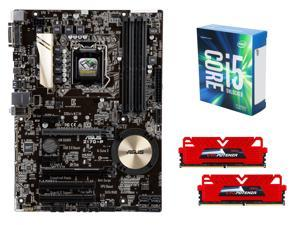 Intel Core i5-6600K Skylake Quad-Core 3.5GHz CPU, ASUS Z170-P ATX MOBO, GeIL EVO POTENZA 16GB DDR4 2400 MEM