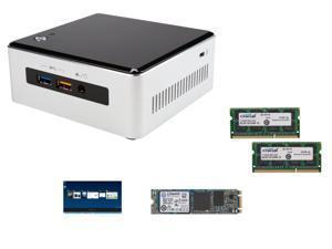 Intel NUC Intel Iris Graphics 6100 Aluminum and Plastic Black NUC Kit, Kingston M.2 2280 240GB SATA III Internal Solid State ...