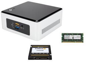 "Intel NUC NUC5PPYH, HDMI, VGA, Intel HD Graphics, USB 3.0, Corsair Force LE 2.5"" 240GB SATA III SSD, Crucial 8GB DDR3 SO-DIMM ..."