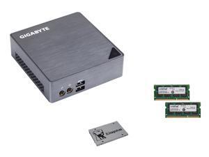 GIGABYTE BRIX GB-BSi7-6500 (rev. 1.0) 2 x 204Pin SO-DIMM Intel HD Graphics 520 Mini / Booksize Barebone System, Kingston ...