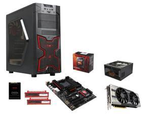 AMD FX-8350 Black Edition Vishera 8-Core 4.0GHz CPU, MSI Gaming 970 Gaming ATX MOBO, G.SKILL Ripjaws 8GB DDR3 1600 MEM, DIYPC ...