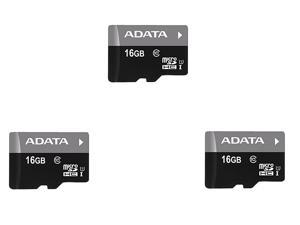 3 x ADATA Premier 16GB microSDHC/SDXC UHS-I U1 Memory Card with One Adapter