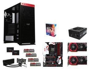 SuperCombo: Intel Core i7-6700K, GIGABYTE G1 Gaming GA-Z170X-Gaming 7, (2x) G.SKILL TridentZ 16GB DDR4 3200, (2x) MSI GeForce ...